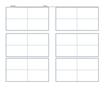 Blank Vocabulary Squares