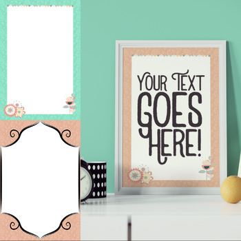 Editable Blank Wall Poster Chic