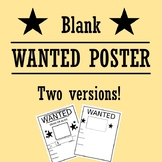 Blank Wanted Poster