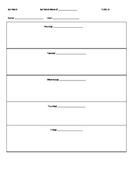 availability sheet for work template