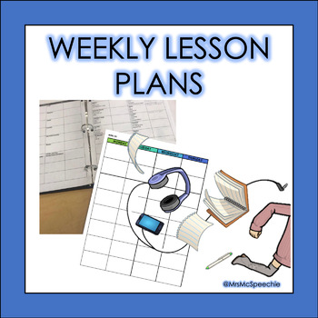 Blank Weekly Lesson Plan