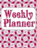 Blank Weekly Planner {Set 14} - 4 Designs