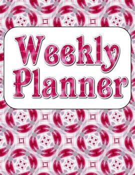 Blank Weekly Planner {Set 14} - 4 Designs