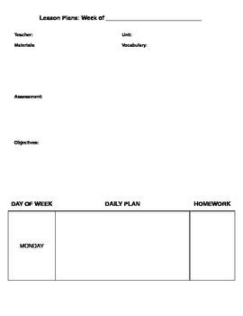 blank syllabus template