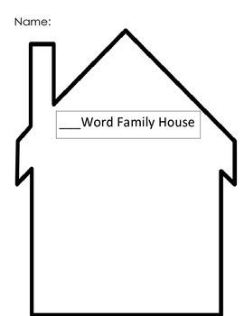 Blank Word Family House