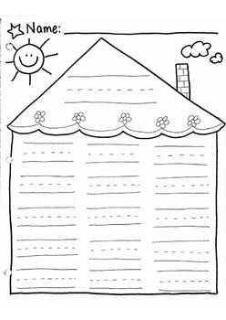Blank Word Family House -Word Work
