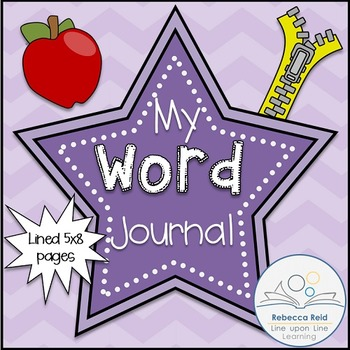 Word Journal with Primary Grade Lines half-page size