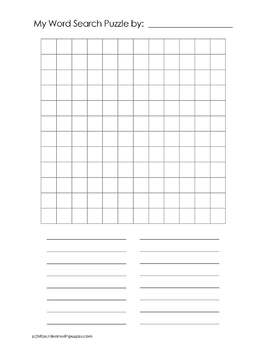 Blank Word Search Puzzle Grids - 46 UNIQUE Blank Word Search Puzzle Grids