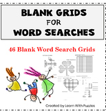 Blank Word Search Grids-46 UNIQUE Blank WordSearch Puzzle Grids