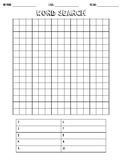 Blank Word Search Worksheet