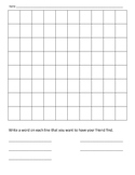Blank Word Wall/Spelling Word Search