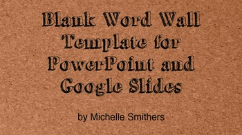 Blank Word Wall Template for PowerPoint and Google Slides