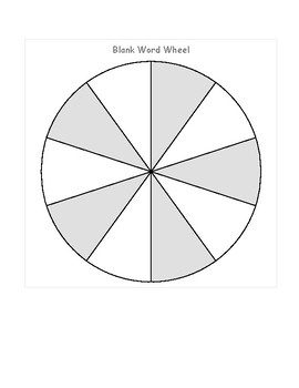 Blank Word Wheel, Math Wheel