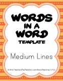 Blank Words In A Word Template With Medium Lines : Second,