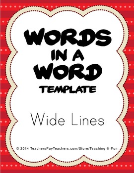 Blank Words In A Word Template With Wide Lines : First & S