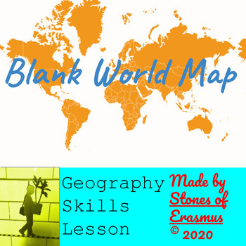 Blank Mercator Projection World Map with Borders for Printing)
