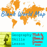 Geography Skills Lesson: Ready-to-Use Worksheet with Blank