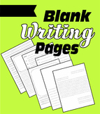 Blank Writing Pages