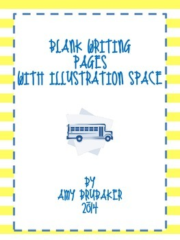 Blank Writing Pages with Room for Illustrations