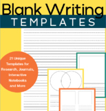 Blank Writing Paper Bundle