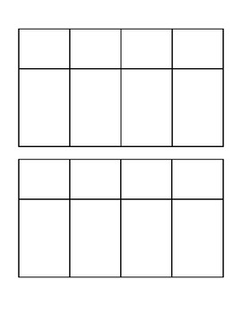 Blank Writing Sort Template