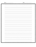 Blank Writing Template (Fat Lines) FREE, PDF