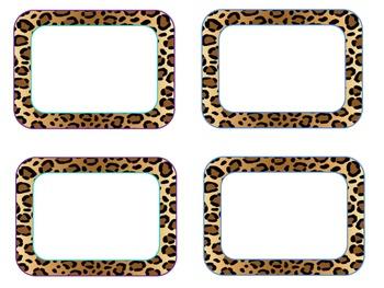 Blank Zebra and Cheetah Labels