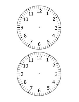 Blank and Complete Clocks