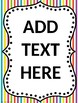 {Blank & Editable} Focus Wall Posters to Match my McGraw-Hill Wonders Focus Wall