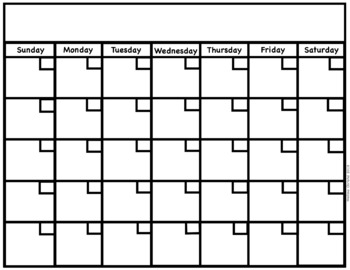 Calendar Blank Template from ecdn.teacherspayteachers.com