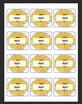 Blank cards Sunflower
