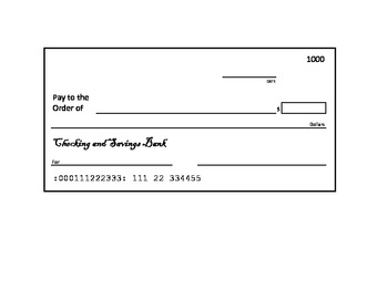 blank check template by elementary techie teacher tpt