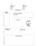 Refrigerator copy blank study guide to send home each week