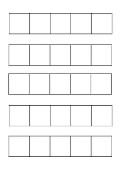 Blank fives frame template