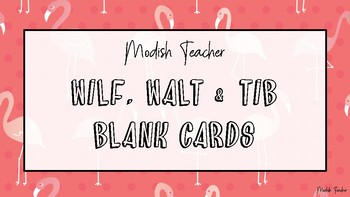 Blank flamingo WILF, WALT, TIB cards