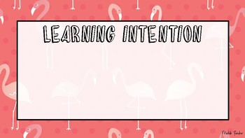 Blank flamingo learning intention and success criteria cards