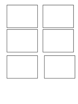 Blank flashcard template