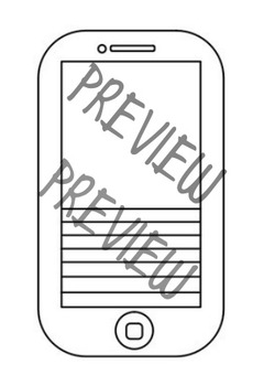 Blank IPhone Template By English In The Middle