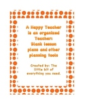 Blank lesson plans and other planning tools