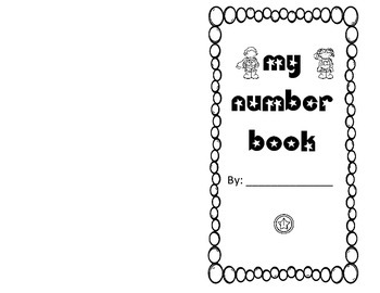 Blank number book 1-10
