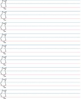 Blank penmanship sheet / Handwriting sheet