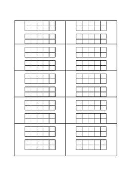 Blank ten frames