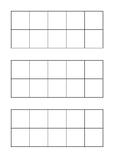 Blank tens frame template