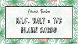 Blank tropical WILF, WALT, TIB cards