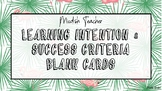Blank tropical flamingo learning intention & success criteria