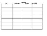 Blank vocabulary templates