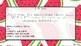 Blank watermelon WILF, WALT, TIB cards