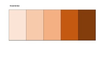Blank Fact chart for the 13 colonies