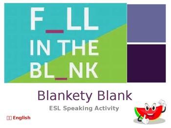 Blankety Blank ESL Speaking