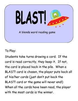 Blast!: A blends word reading game